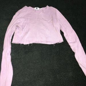 Lilac cropped sweater